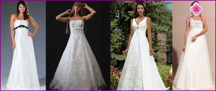 Brautkleider für Schwangere: A-Line