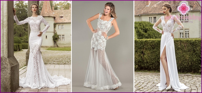 Clothing options for brides with lace