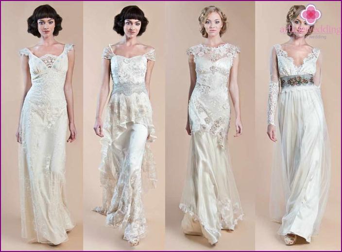Vintage style bride dresses