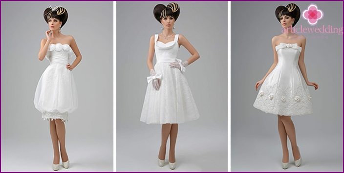 Collection of wedding dresses from Chanel fashion house