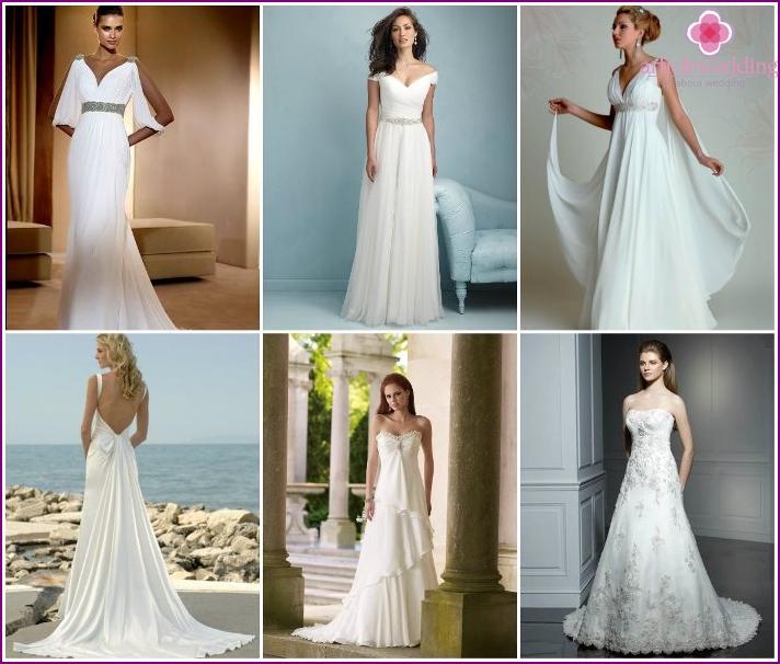 Greek style wedding attire