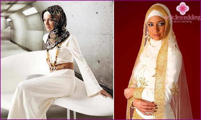 Muslim wedding dress style