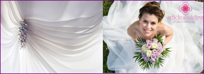Dress decoration with lurex threads