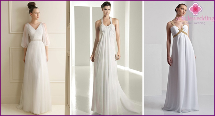 Empire style in wedding dresses