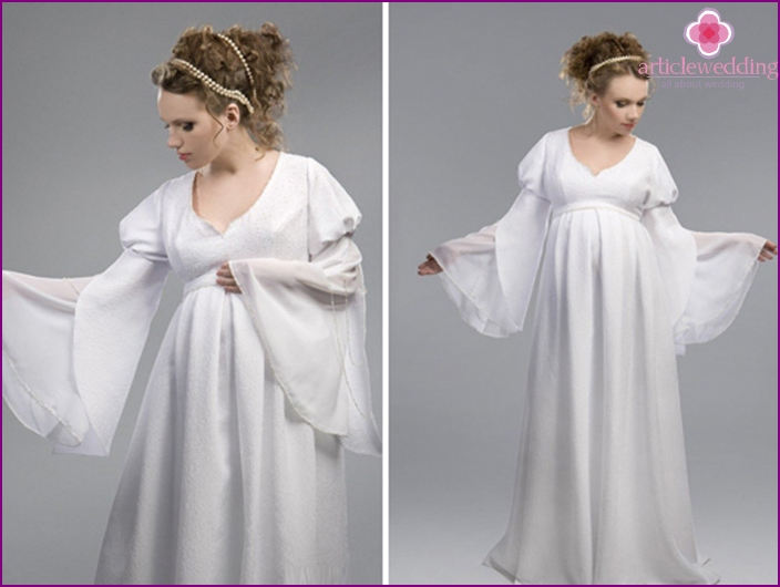 Dress for the pregnant bride