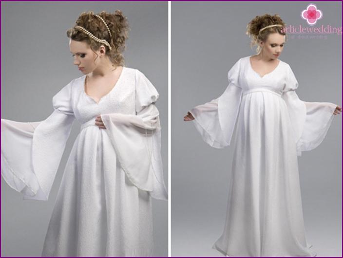 Kleid für die schwangere Braut