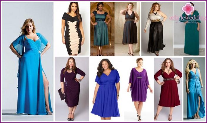 Evening wear for overweight women
