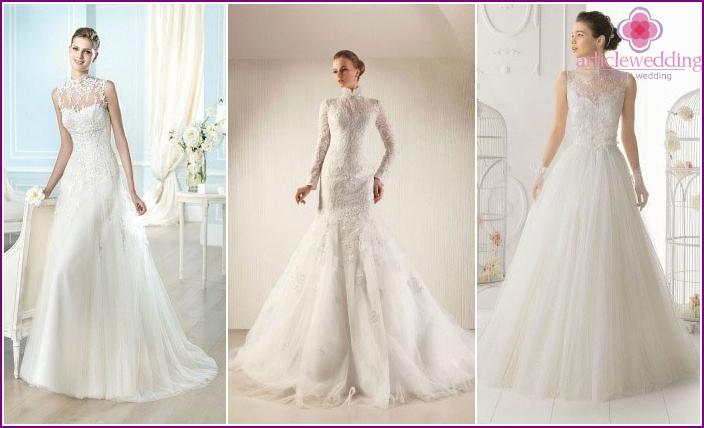 Spitzenmodelle von Brautkleidern