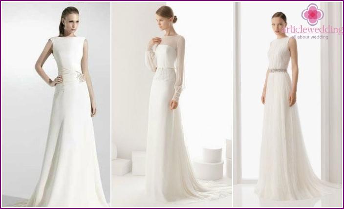 Brautkleider ohne Schnickschnack