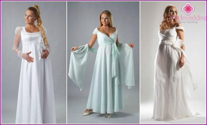 Stile von Modellen von Brautkleidern für schwangere Frauen