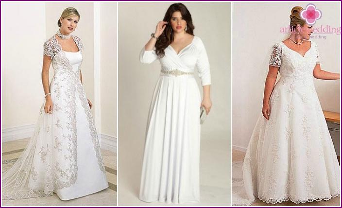 Elegante Kleider für die Hochzeit mit vollen Mädchen