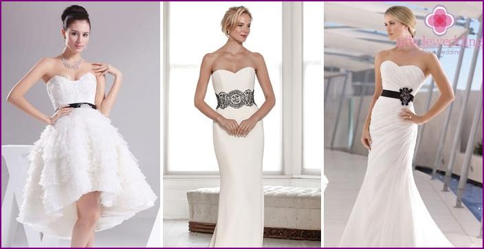 Black belt for bride dress