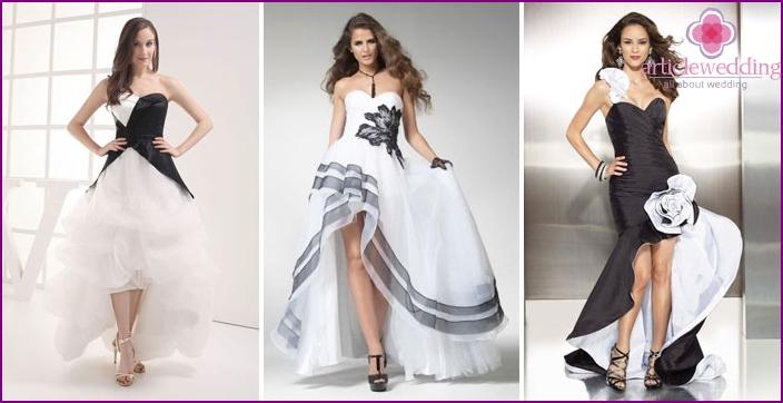 Asymmetric wedding black and white patterns