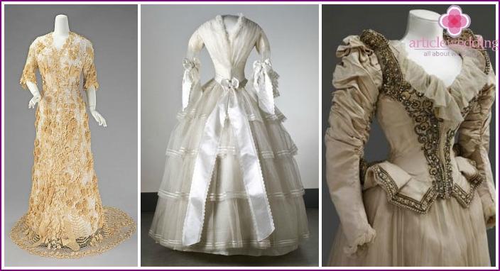 Brautkleider aus dem 19. Jahrhundert