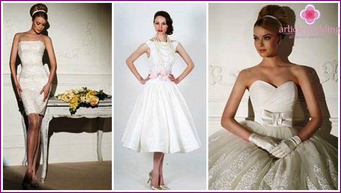 60er Jahre Brautkleider