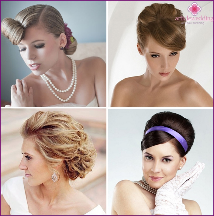 60s bride hairstyle