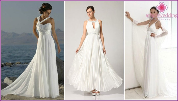 Greek style wedding dress for the wedding