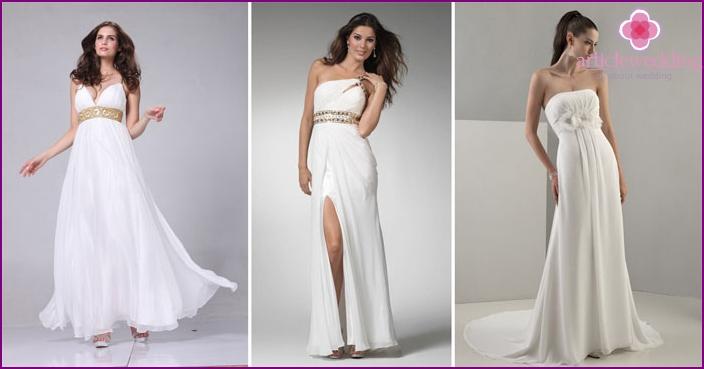 DIY Greek style wedding dress
