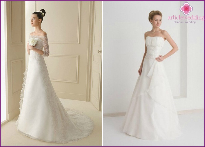 Elegant wedding dresses for short brides