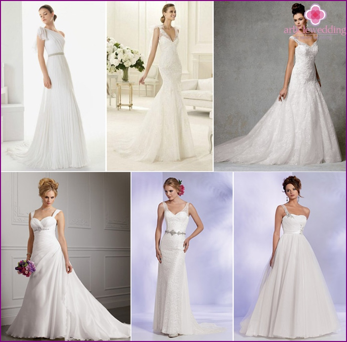 Options for a low-rise bride's dress
