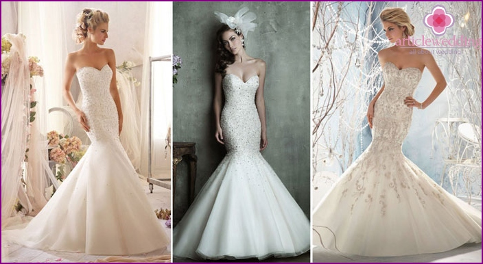 Stones Mermaid Wedding Dress