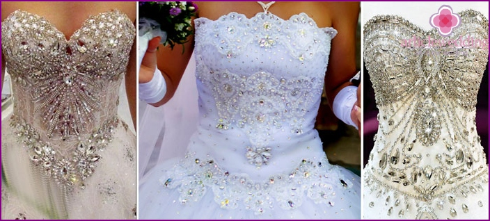 Wedding dresses and Swarovski stones