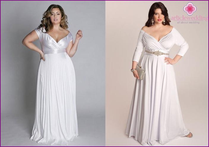 Greek wedding attire for the full