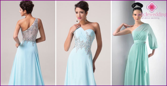 Wedding Dresses: Turquoise Greek Style