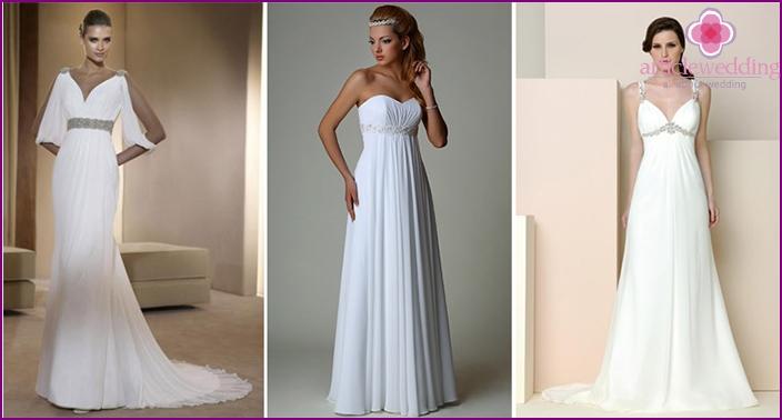 Simple greek bride dress