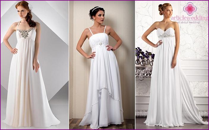 Einfaches Brautjungfernkleid im Empire-Stil