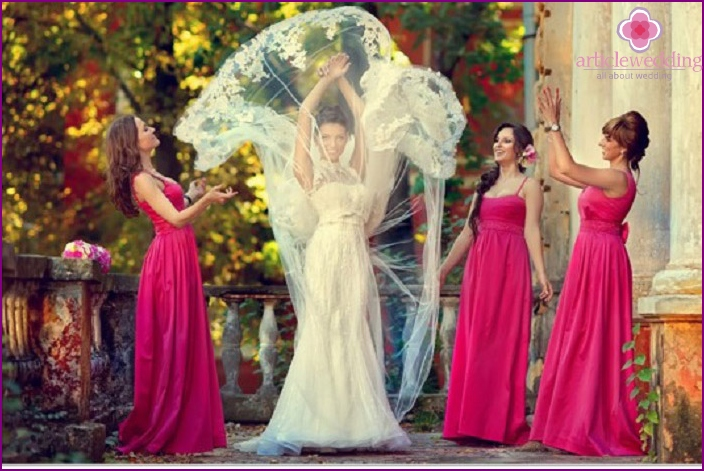 Raspberry image of bridesmaids
