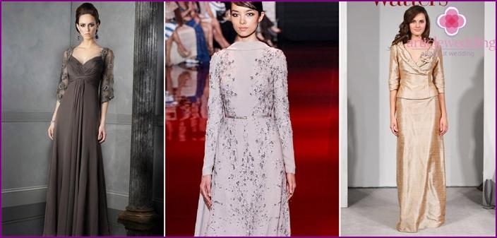 Girlfriend winter look: dress model with sleeve