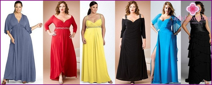 Dresses for a wedding celebration for obese girls