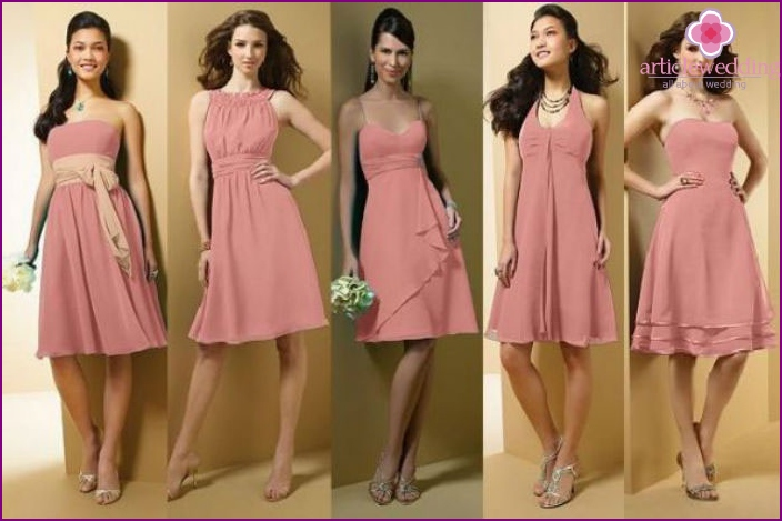 Attend a wedding celebration in a pink dress