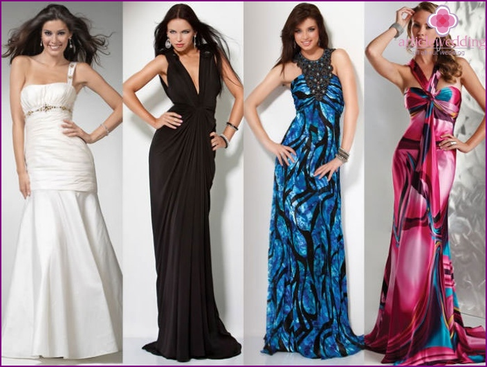 Long dresses for the guest of a wedding celebration