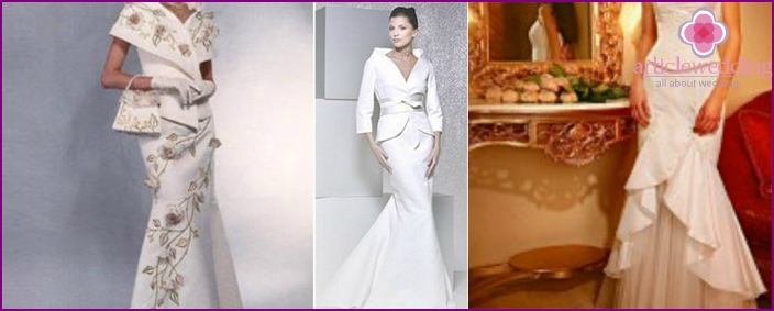 Style wedding suit with skirt year