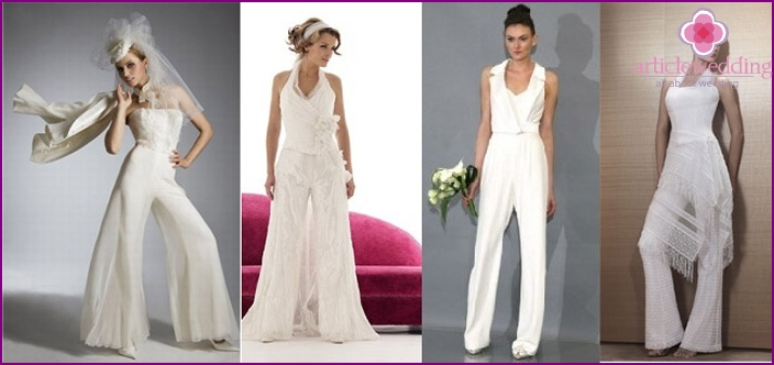 Wedding jumpsuit for the bride
