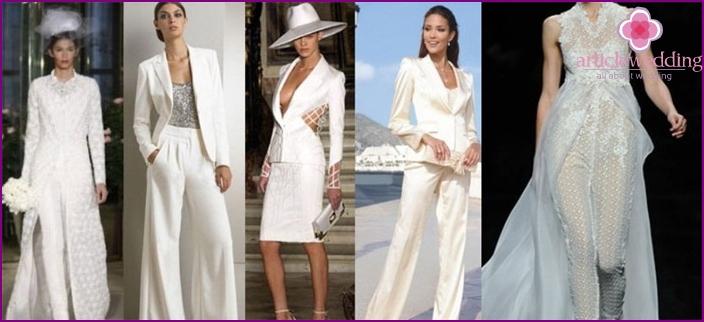 Wedding suit of the bride