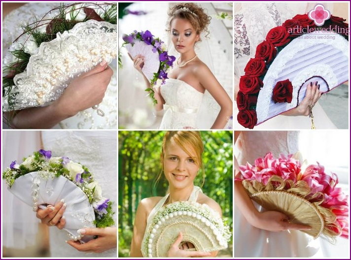 Fan bouquet for the bride