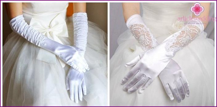 Classic wedding gloves