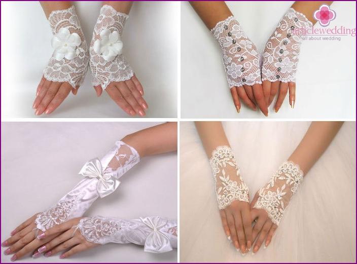 Fingerless wedding gloves