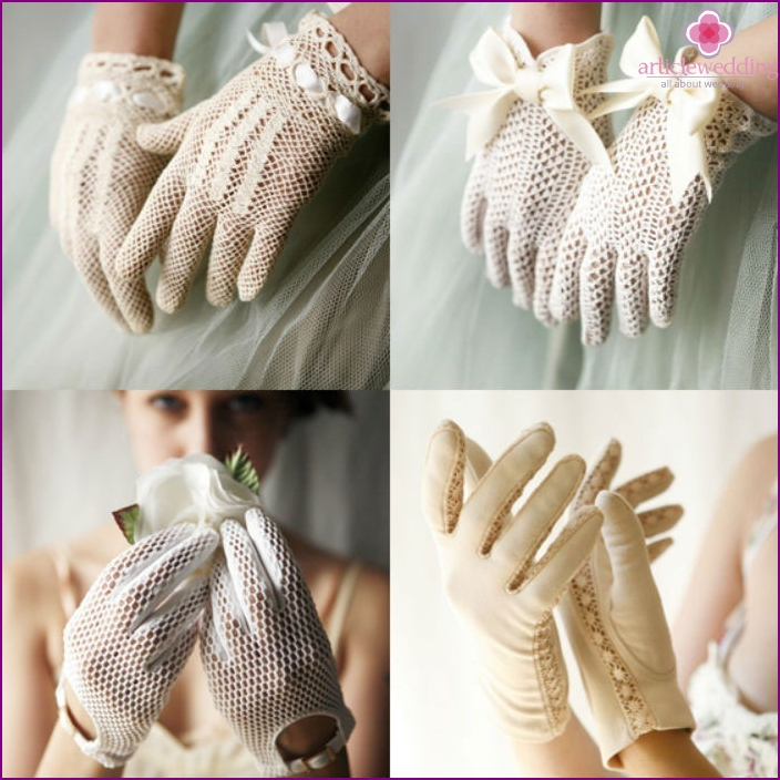 Short gloves for the wedding