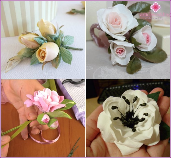 Polymer clay boutonniere