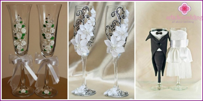 Glasses: wedding attribute