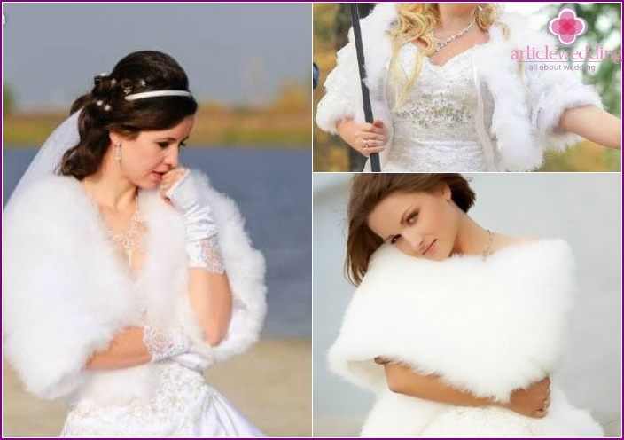 Fur coats with swan down
