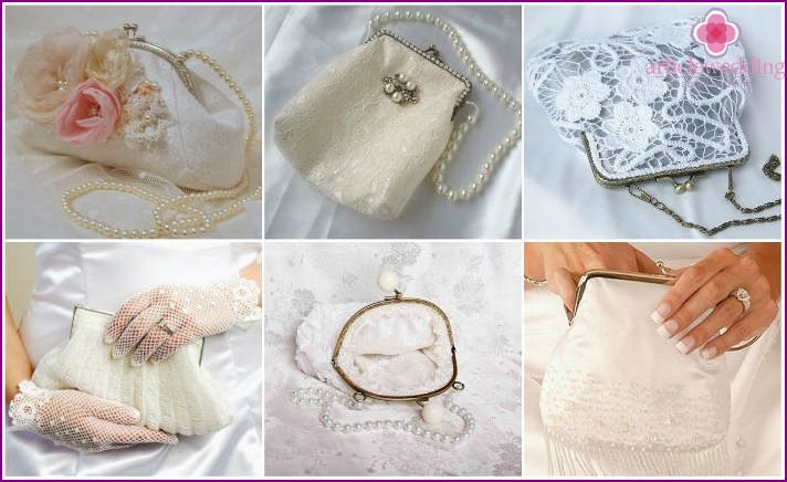 Wedding clasp bag with clasp