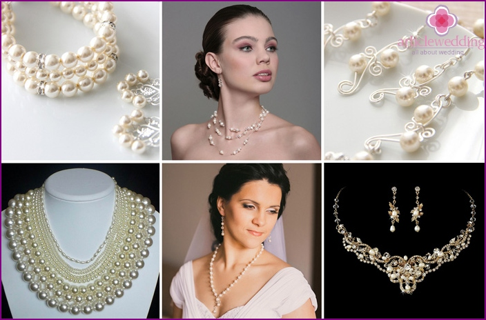 Pearl jewelry for the wedding