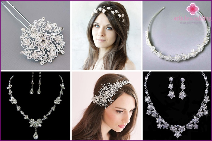Wedding decorations with crystals