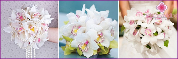 Orchids at a wedding