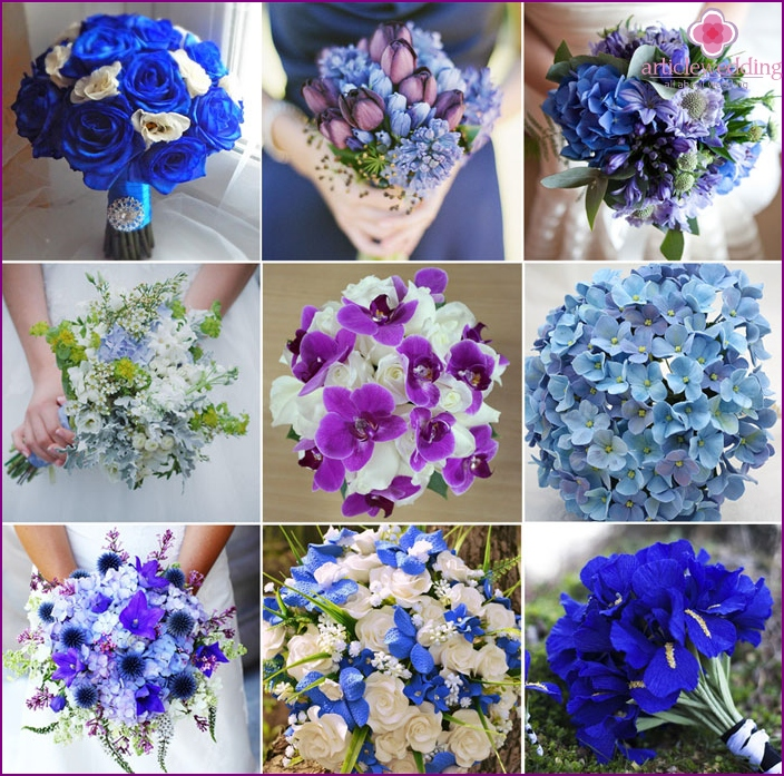 Beautiful brides wedding bouquets
